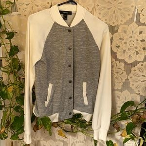Gray and white Sports jacket